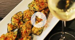 Baked Stuffed Mussels  with a Garlic, Herb & Lemon Crust